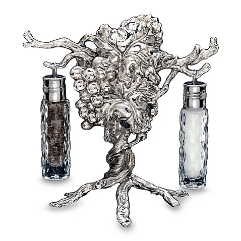 Arthur Court Designs Grape Hanging Salt And Pepper Shaker Set