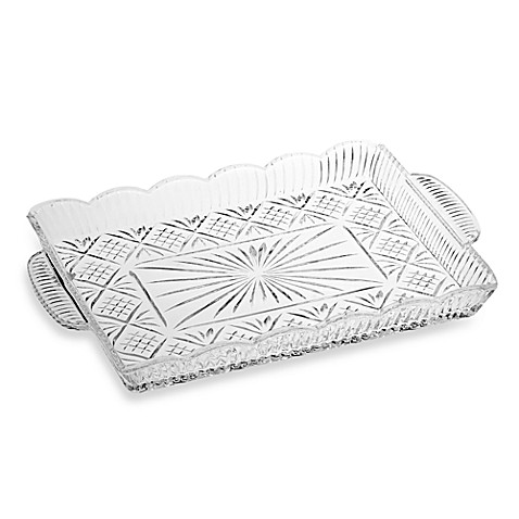 Godinger Dublin Crystal Rectangular Tray