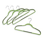 Slim Grips™ Green Hangers in Set of 18