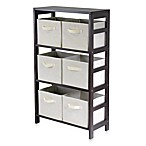 Capri 3-Tier Shelf with 6 Foldable Baskets in Beige