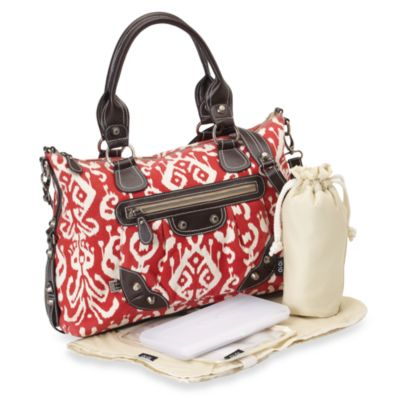 OiOi® Organic Cotton Diaper Bag Tote in Red