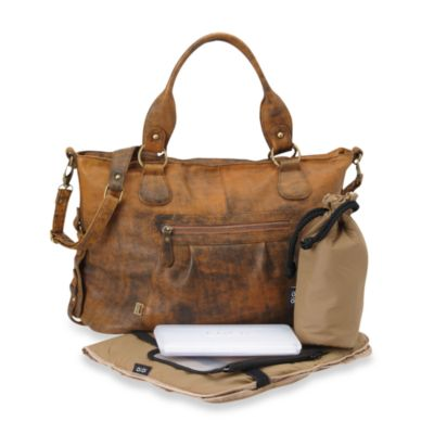 OiOi® Slouch Tote Diaper Bag in Distressed Leather