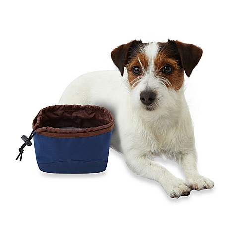 Microdry® On-The-Go Food & Water Bowl - Navy