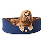 Microdry® Ultimate Luxury Plush Dog Bed Navy/Dark Chocolate