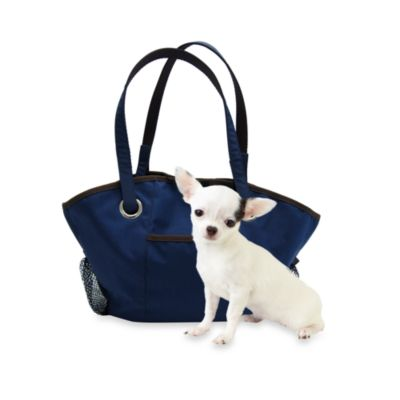Microdry® Ultimate Luxury Pet Tote in Navy/Dark Chocolate