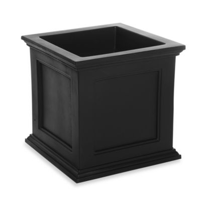 Mayne Fairfield 20-Inch x 20-Inch Patio Planter in Black