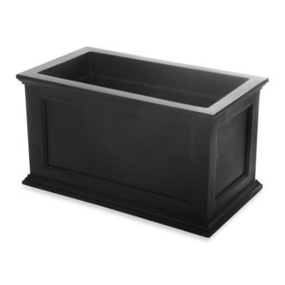 Mayne Fairfield 20-Inch x 36-Inch Patio Planter in Black