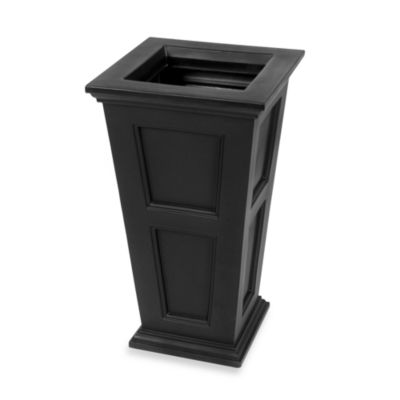 Mayne Fairfield 28.5-Inch x 16-Inch Tall Patio Planter in Black