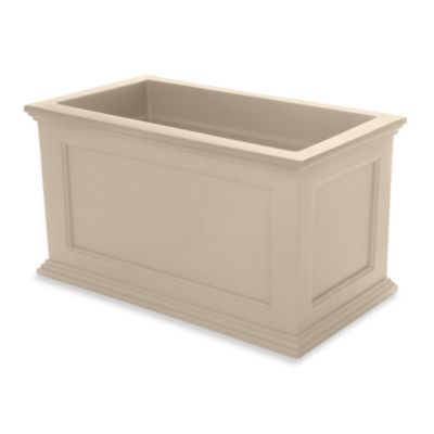 Mayne Fairfield 20-Inch x 36-Inch Patio Planter in Clay