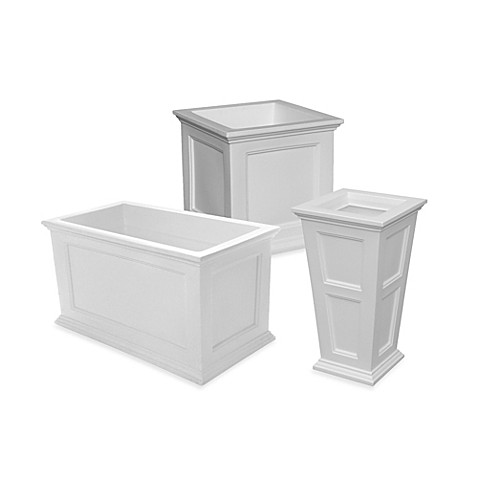 Mayne Fairfield Patio Planters - White