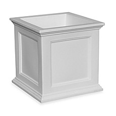 Mayne Fairfield 20-Inch x 20-Inch Patio Planter in White