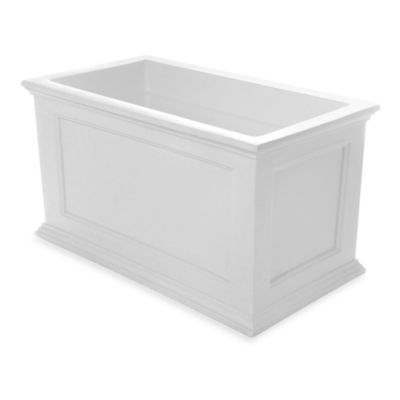 Mayne Fairfield 20-Inch x 36-Inch Patio Planter in White