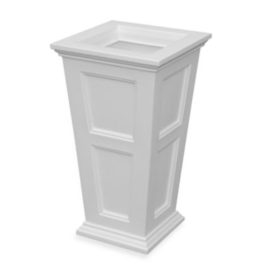 Mayne Fairfield Tall Patio Planter in White