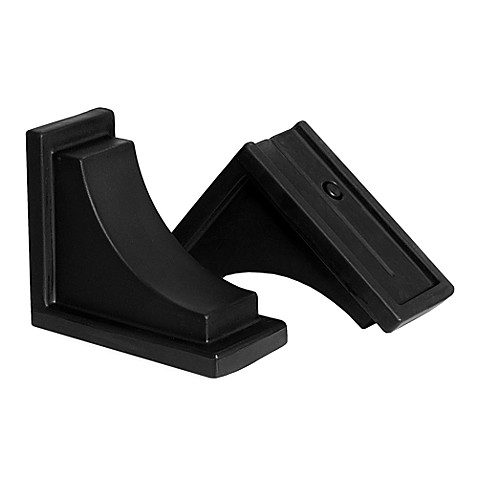 Mayne Nantucket Decorative Brackets in Black (Set of 2)