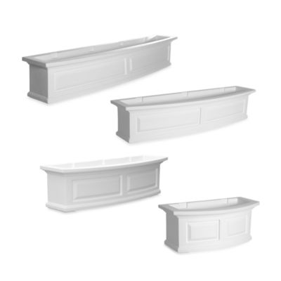 Mayne Nantucket 2-Foot Window Box in White