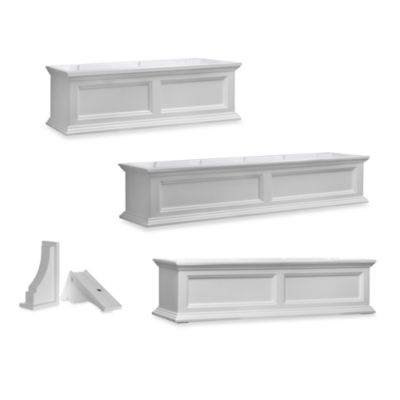 Mayne Fairfield 5-Foot Window Box in White