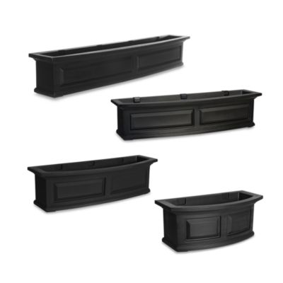Mayne Nantucket 2-Foot Window Box in Black