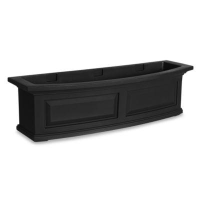 Mayne Nantucket 3-Foot Window Box in Black