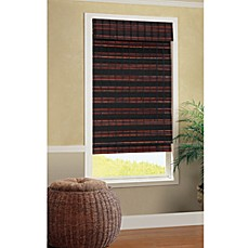 B. Smith Baha Roman Cordless Bamboo Shade in Mahogany