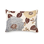 Full Bloom Oblong Decorative Toss Pillow in Blue