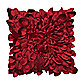 Starburst Petal Layered 16-Inch Square Decorative Throw Pillow