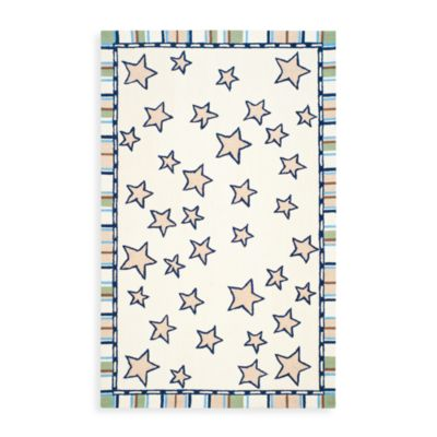 Safavieh Kids® Stars with Stripes Border 3-Foot x 5-Foot Rug