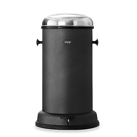 Vipp® 15 Black 14-Litre Kitchen Bin