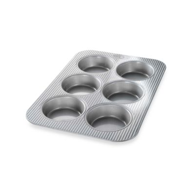 USA Pan Non-Stick 6-Well Mini Round Cake Panel Pan