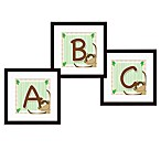 Monogram Monkey Initial Wall Art