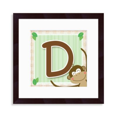 "Monogram Monkey Initial ""D"" Wall Art"