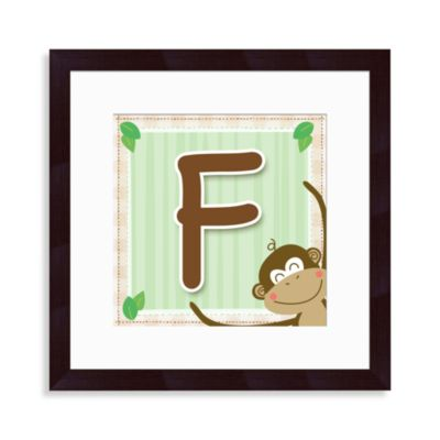 "Monogram Monkey Initial ""F"" Wall Art"