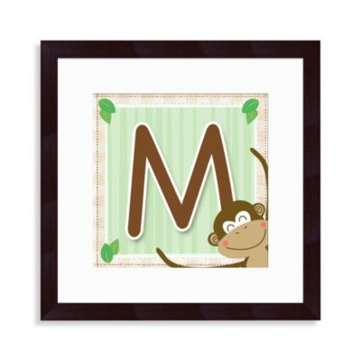 "Monogram Monkey Initial ""M"" Wall Art"