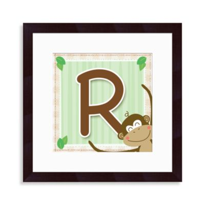 "Monogram Monkey Initial ""R"" Wall Art"