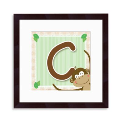 "Monogram Monkey Initial ""C"" Wall Art"