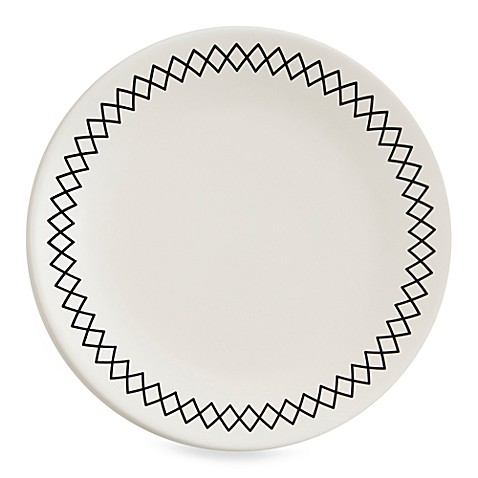 K by Keaton White 8 1/2-Inch Accent/Salad Plates (Set of 4)