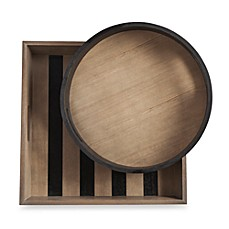 K by Keaton Nesting Wood Trays (Set of 2)