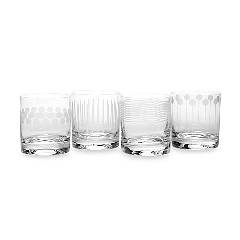 Mikasa® Cheers Too 12-3/4 Ounce Double Old-Fashioned Glasses (Set of 4)