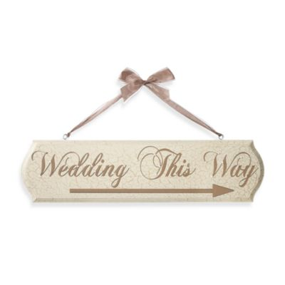 Reversible Wedding This Way Plaque