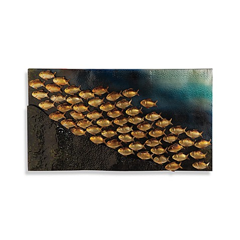 School of fish wall art bed bath beyond for School of fish wall art