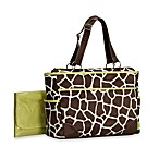 Carter's® Out'n About Giraffe Print Diaper Bag
