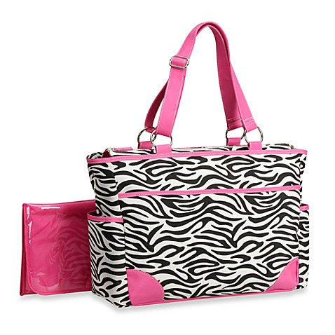 Carter's® Out'n About Zebra Print Diaper Bag