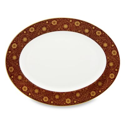 White Red Serving Platter