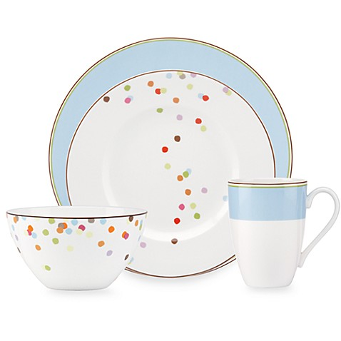 kate spade new york Market Street Blue 4-Piece Place Setting