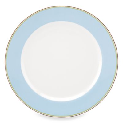 kate spade new york Market Street 11 1/4-Inch Blue Dinner Plate