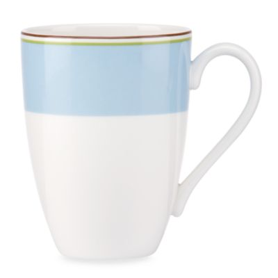kate spade new york Market Street 14-Ounce Blue Mug