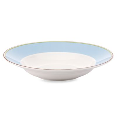 kate spade new york Market Street Blue 9-Inch Pasta/Rim Soup Bowl