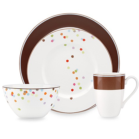 kate spade new york Market Street Chocolate Dinnerware