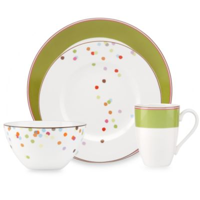 kate spade new york Market Street Green 4-Piece Place Setting
