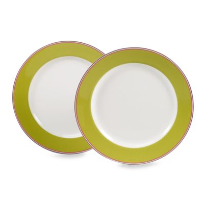 kate spade new york Market Street 11 1/4-Inch Green Dinner Plate