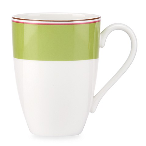 kate spade new york Market Street™ 14 oz. Mug in Green